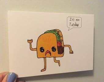 Postcard - Taco Tuesday! x4