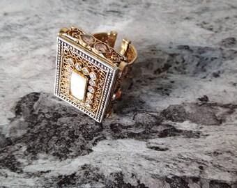 24k gold plated handmade ring