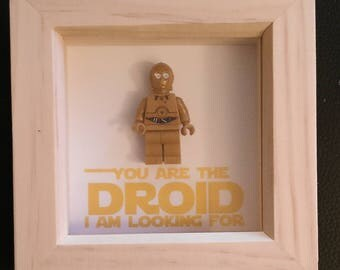 Lego inspired Star Wars C3PO the droid you have been looking for minifigure art