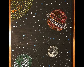 Dot in the galaxy painting