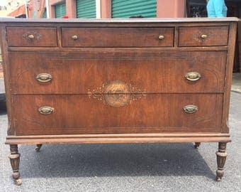 Walnut New England Antique Dresser