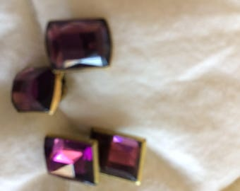 Vintage beautiful Amethyst like cuff links