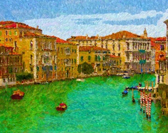 Grand Canal, Venice 20 x 24 Canvas Print