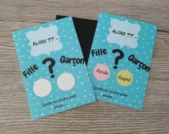 Girl or boy - scratch card