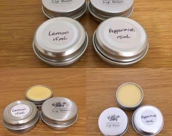 Handmade all natural lip balm 15ml tin