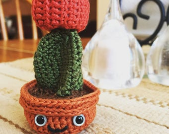 Crochet Amigurumi Doll Potted Cactus