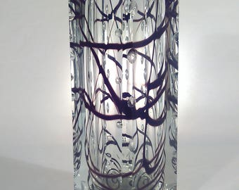 Crystalex Novy Bor glass vase from Zdenek Nemecek