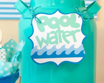 Pool Party Water Sign
