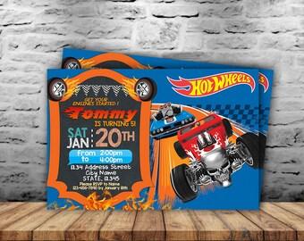 Hot Wheels Invitation,Hot Wheels Birthday Invitation,Hot Wheels Birthday,Hot Wheels Invite,Hot Wheels Printable,Birthday Invitation SL
