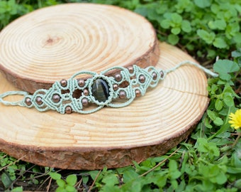 tiger eye macrame stone bracelet,macrame jewelry,gemstone bracelet, bracelet,thread bracelet,tiger eye bracelet ,gift for women,boho,macrame