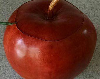 Apple gourd with worm