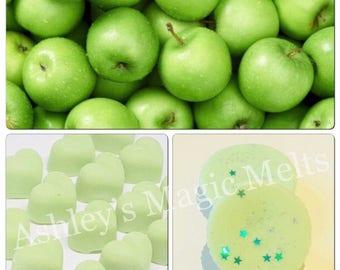 3 Apple soy wax melts, fruit wax melts, wax cubes, highly scented wax melts, strong wax melts, cheap wax melts, wax melt tarts