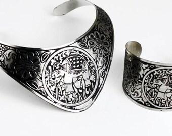 Elephant Choker and Bracelet Set