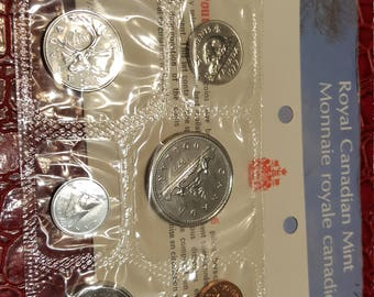 1977 Canada Proof-Like Coin Set By Royal Canadian Mint