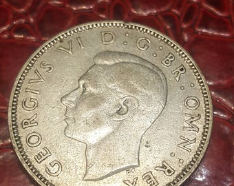 Great Britain florin two shillings 1944 George V silver