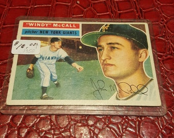 1956 Topps WB #44 Windy McCall EX/EX+ .Combined shippin