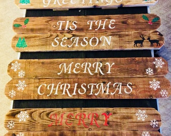 Pallet wood Christmas / Holiday signs