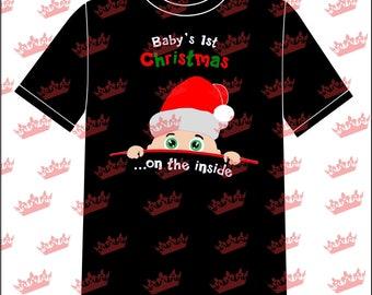 Baby's last Christmas on the Inside Tshirt