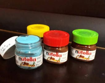 Homemade nutella jar slime. Great Xmas gift