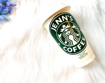 Personalized Starbucks Cup / Personalised Starbucks Cup / Reusable Coffee Cup / Teacher Gift / Birthday Gift / Morher's Day Gift