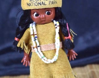 Original Vintage 1950'S Indian Girl Doll Souvenir MesaVerde National Park NM