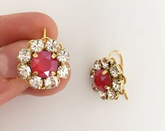 EARRINGS WITH CRYSTALS