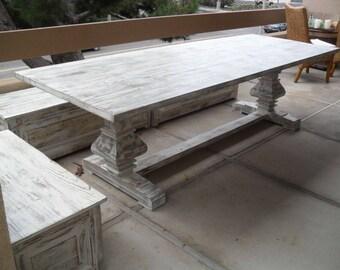 Reclaimed Pine Trestle Table