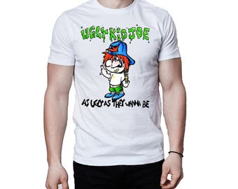 Ugly Kid Joe As Ugly As They Wanna Be 1991 Album Cover White T-Shirt