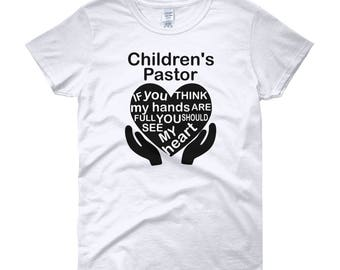 Children's Kid's Pastor Church Women's short sleeve t-shirt