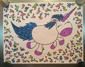 Chibi Unicorn / Savings Tracker / Debt Payoff Tracker / Fitness Tracker / Goal Coloring Sheet