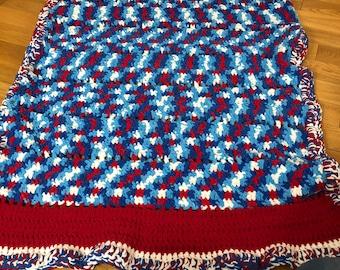 Crochet Fleece Lap Blanket