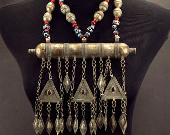 Turkoman Tribe Tumar NECKLACE Bellydance Tribal Dance 812s9