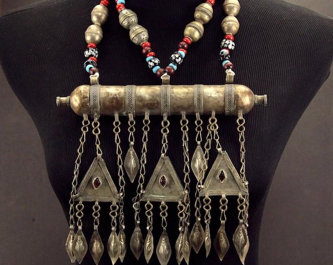 Turkoman Tribe Tumar NECKLACE Bellydance Tribal Dance 812s9