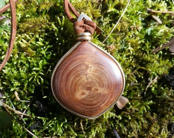 Wooden pine necklace