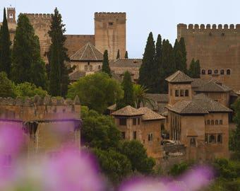 La Alhambra Gadens in Granada Spain