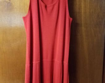 Rafaella Red Sweater/Sweater Dress, Size M