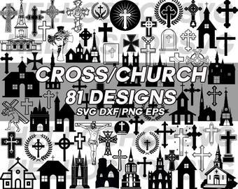 cross svg, church svg, pray svg, jesus svg, prayer, holy svg, religion svg, bible svg, chapel, catholic, cathedral, silhouette, clipart,