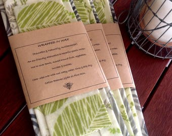 6x Beeswax Food Wraps - Wrapped In Wax