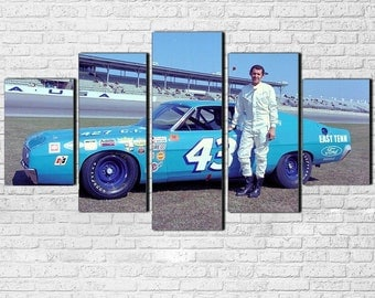 Richard Petty 5pc Wall Canvas