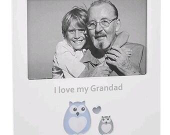 "Solid White ""I love my grandad"" 6x4"" Photo Frame - Gift - Sentimental - 270541"