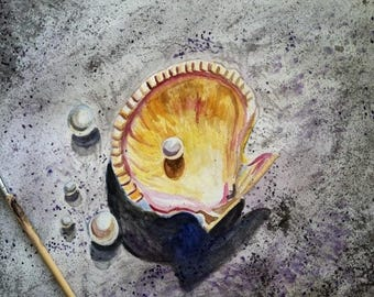 Sanibel Island Shell in Watercolors