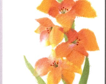 "Chigiri-e Japanese Washi Paper Collage DIY Art Kit ""Gladiolus"""