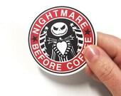 Nightmare Before Coffee Sticker