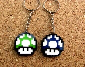 Pixeled Mario Mushroom Keychain/Beautiful/Colorful/Unique/CoolGift/OriginalGift