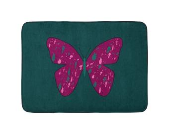 Bath Mat - Anti-Slip, 3 different sizes, Butterfly