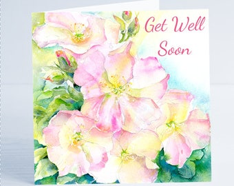 Get Well Soon Greeting Card  - Taken from an original watercolour by Sheila Gill