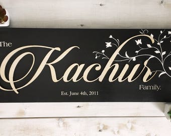 Custom - Kachur Family sign