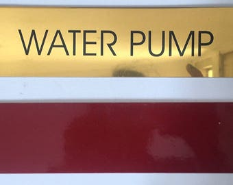 WATER PUMP- GOLD Sign 2X11.75