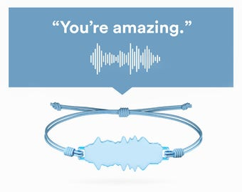 Voice bracelet (custom with your voice sound waves in acrylic) | Love, gift ideas, 5 senses gift, couple, anniversary, gift for men women