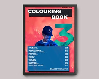Chance The Rapper Colouring Book Custom Music Poster // A3 Album Art // Wall Art Poster Design